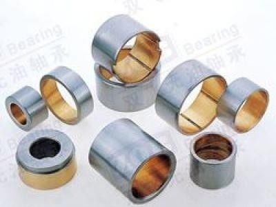 UF850 Self Lubricating Bearings , Bi Metal Bushing 65N/Mm2 Load Capacity